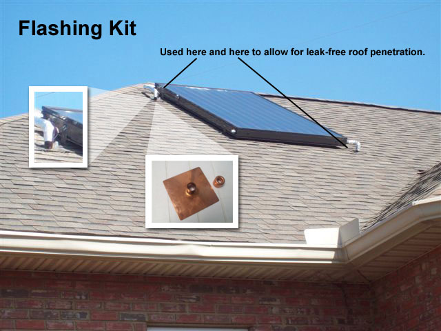 Flashing Kit For Solar Collector Installation